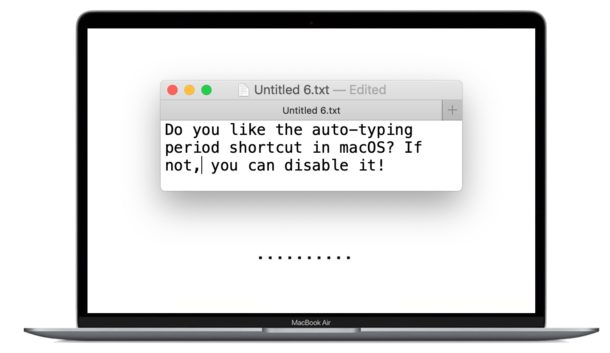 How to Stop Typing Periods Automatically with Double-Space on MacOS