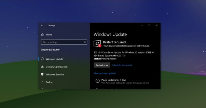 Windows 10 Build 19042.985 is now available, download offline installers