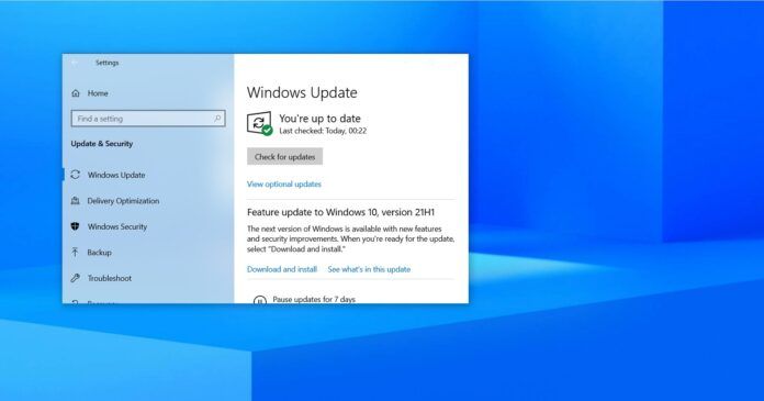 Windows 10 May 2021 Update (21H1) is now widely available