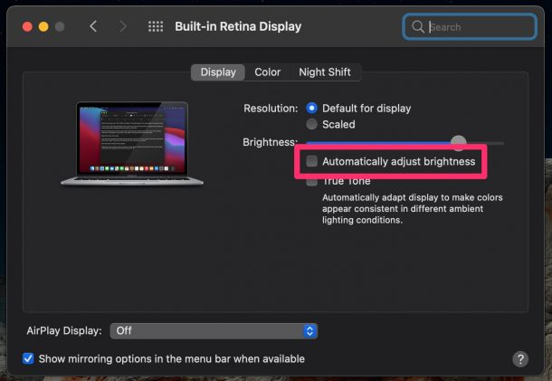 Mac Automatically Lowering Brightness on Battery? Here's How to Fix it