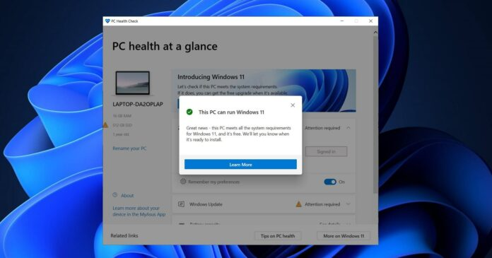 """Microsoft tool incorrectly reports """"This PC can't run Windows 11"""" error"""