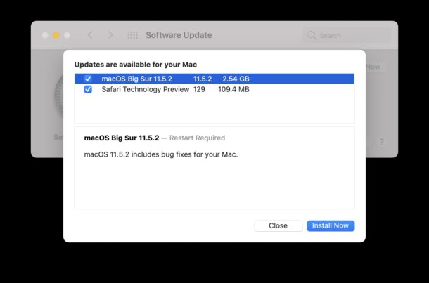 macOS Big Sur 11.5.2 Update Released for Mac with Unspecified Bug Fixes